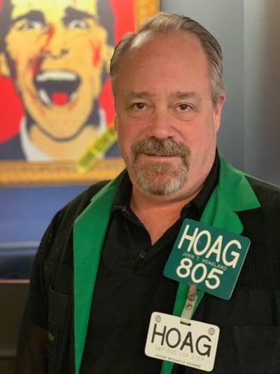 John Hoagland models trading jacket