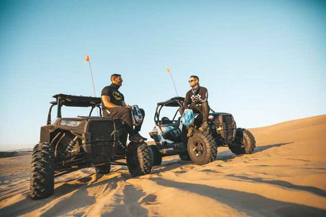 Dune Buggies in Desert