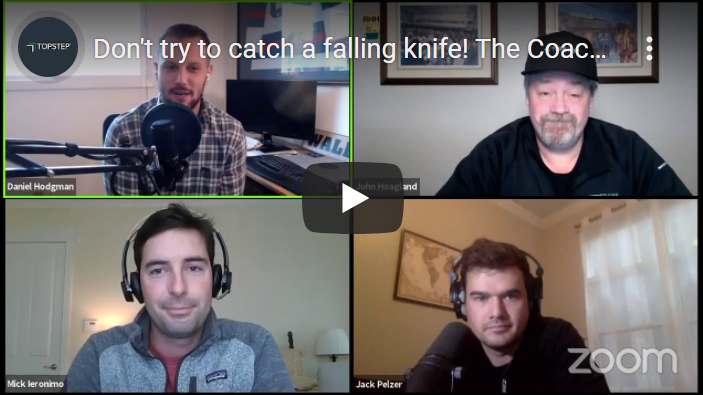 Dont try to catch a falling knife - the coach's playbook