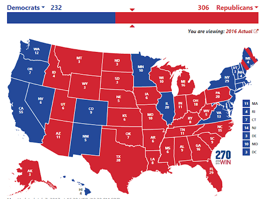 Scenario of a Republican Victory - Under the radar states to watch